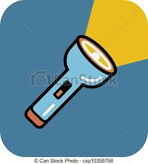 a flashlight on blue background stock ilrations