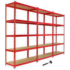 3 garage shelving racking 90cm storage units heavy duty metal shelves 5 tier