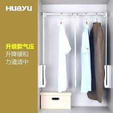 wardrobe pull down clothes hanger out rail coat rod closet laundry outstanding