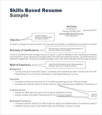 Resume Skill Samples Examples Of Resume Qualifications 24