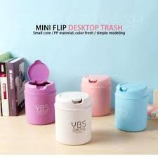 Elegant Image Is Loading Mini Desktop Waste Bins With Lid Desk Small