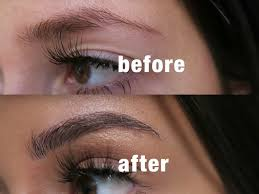 diy eyebrow extensions before and after