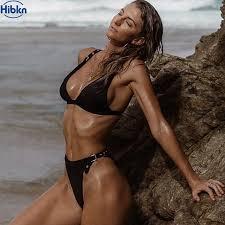 Bikini black girl in thong