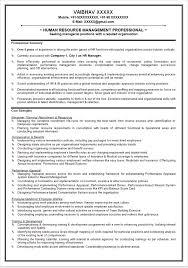 Human Resource Resume Example Good Hr Generalist Resumes