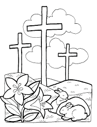 Free Printable Easter Cross Coloring Pages On Cross Coloring Page