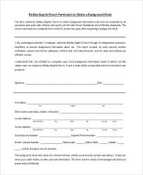 Background Check Authorization Form Unique Sample Background Check Authorization Form 44 Free Documents In
