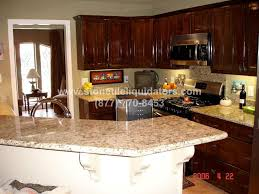 giallo ornamental polished granite kitchen countertop