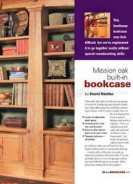 japanese furniture plans 2. Mission Oak Built-In Bookcase Plans Japanese Furniture 2 S