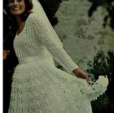 Crochet Wedding Dress Pattern Beauteous CROCHET WEDDING DRESS Pattern Vintage 48s Crochet Bridal Dress Etsy