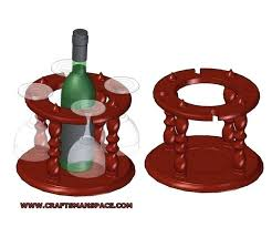 wine bottle and glass holder plans pattern