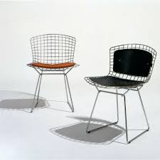 cushions knoll bertoia side chair with back pad and seat cushion palette dining table chairs indoor wicker