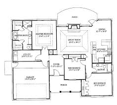 4 bedroom house plans one story luxury bungalow lovely floor plan in four 2 3d