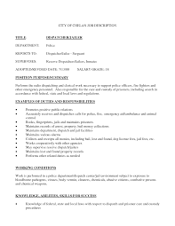Awesome 911 Dispatcher Resume Contemporary Simple Resume Office