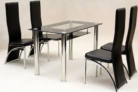 furniture 5 piece black glass dining table and chairs ideas wood and glass dining