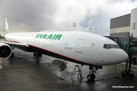 a brand new eva boeing 777 300er curly the most por 777 aircraft