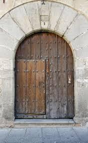 file old wooden door segovia spain jpg