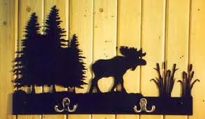 Moose Coat Rack Bull Moose Montana Metal 30