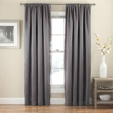 com eclipse 14378052084gre tricia rod pocket 52 inch by 84 inch single blackout curtain thermapanel grey home kitchen