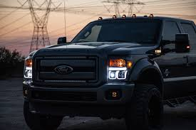 Recon Roof Lights 1999 2016 Ford F Series Recon 5pc Cab Roof Lights Smoked Lenses Amber Leds 264143bkhp