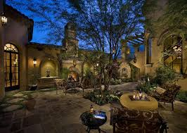 mediterranean outdoor lighting. Rustic Courtyard Ideas Patio Mediterranean With Tile Roof Tuscan Outdoor Lighting