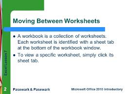 Excel Slice Theme 1 Excel Lesson 5 Working With Multiple Worksheets And Charts
