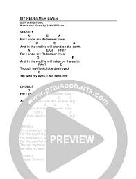 My Redeemer Lives Chords G3 Worship Praisecharts