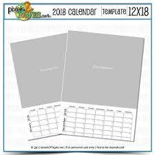 Forever Calendar Template 2018 12x18 Blank Calendar Template Digital Art