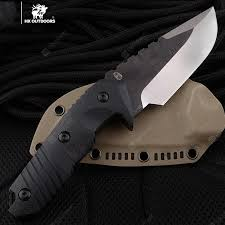 HX OUTDOORS D-169 warrior tactical straight <b>knife</b> survival with D2 ...