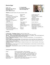 Qualifications Resume Sample Child Acting Resume Template Kids