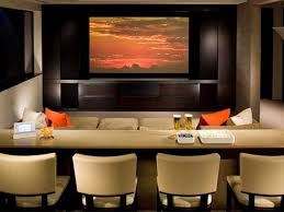 furniture astonishing home theatre living room ideas with cream wooden rectangle bar table design be equipped cream fabric 4 modern chair on the floor and bar room furniture home