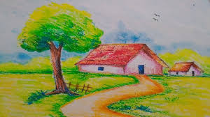 1280x720 simple oil pastel drawing easy and simple oil pastel paintings