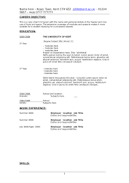 Student Resume Objective Examples Free Resume Example And