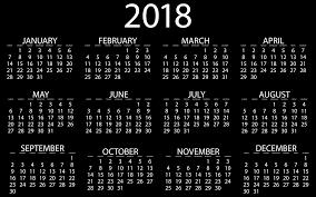 Black Calendar 2018 Under Fontanacountryinn Com