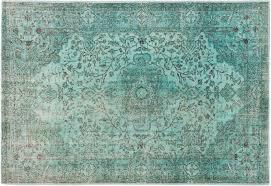 6 9 x 10 0 blue green turkish overdyed rug