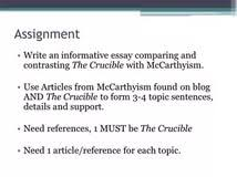 on the crucible analytical essay on the crucible sample and tips