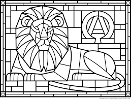 Stained Glass Coloring Printables Cooloring