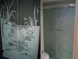 etched shower door etched glass shower acid etched shower door
