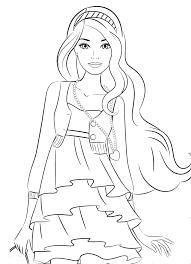 Top 6 bức tranh tô màu búp bê barbie đơn giản cho bé gái