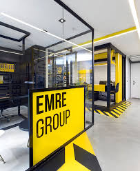 Yellow Office Black And Yellow Emre Group Office Interior Interiorzine