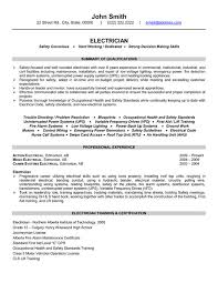 Electrical Wiring Technician Resume Search For Wiring Diagrams