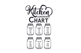More free svg files for cricut and other cutting machines. Kitchen Conversion Chart Svg Cut File By Creative Fabrica Crafts Creative Fabrica