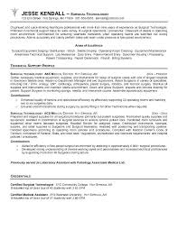 Tech Resume Format Surgical Tech Resume Objective Perfect Surgical