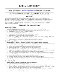 Paralegal Resume Format By Brian K. Haberly ...