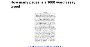 how many pages is a word essay typed google docs