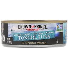 Chunk Light Vs Albacore Crown Prince Natural Tongol Tuna Chunk Light No Salt Added In Spring Water 5 Oz 142 G