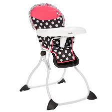 minnie mouse c flowers fast pack high chair from safety 1st