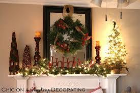 mantle lighting ideas. rustic christmas mantel decorating idea with smart lighting mantle ideas