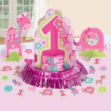 One Wild Girl 1st Birthday Table Decorating Kit First Birthday