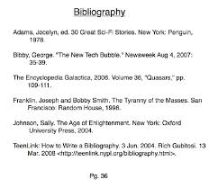 bibliography page gravy anecdote bibliography page