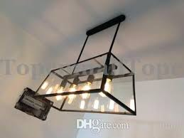 black iron light fixtures loft pendant lamp retro industrial black iron rectangular chandelier living room dining